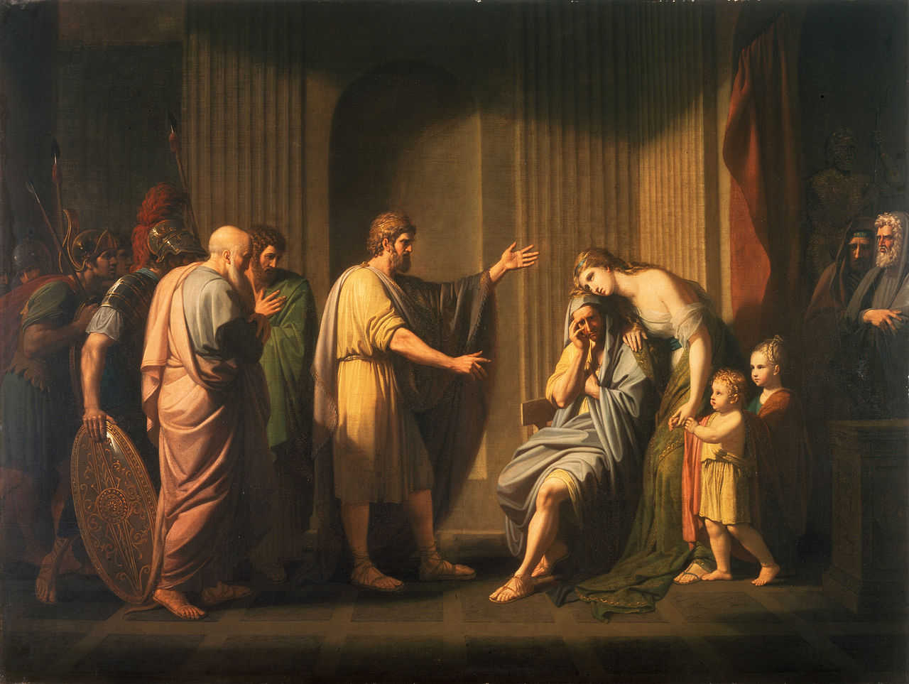Benjamin West: Cleombrotus Ordered into Banishment by Leonidas II, King of Sparta
