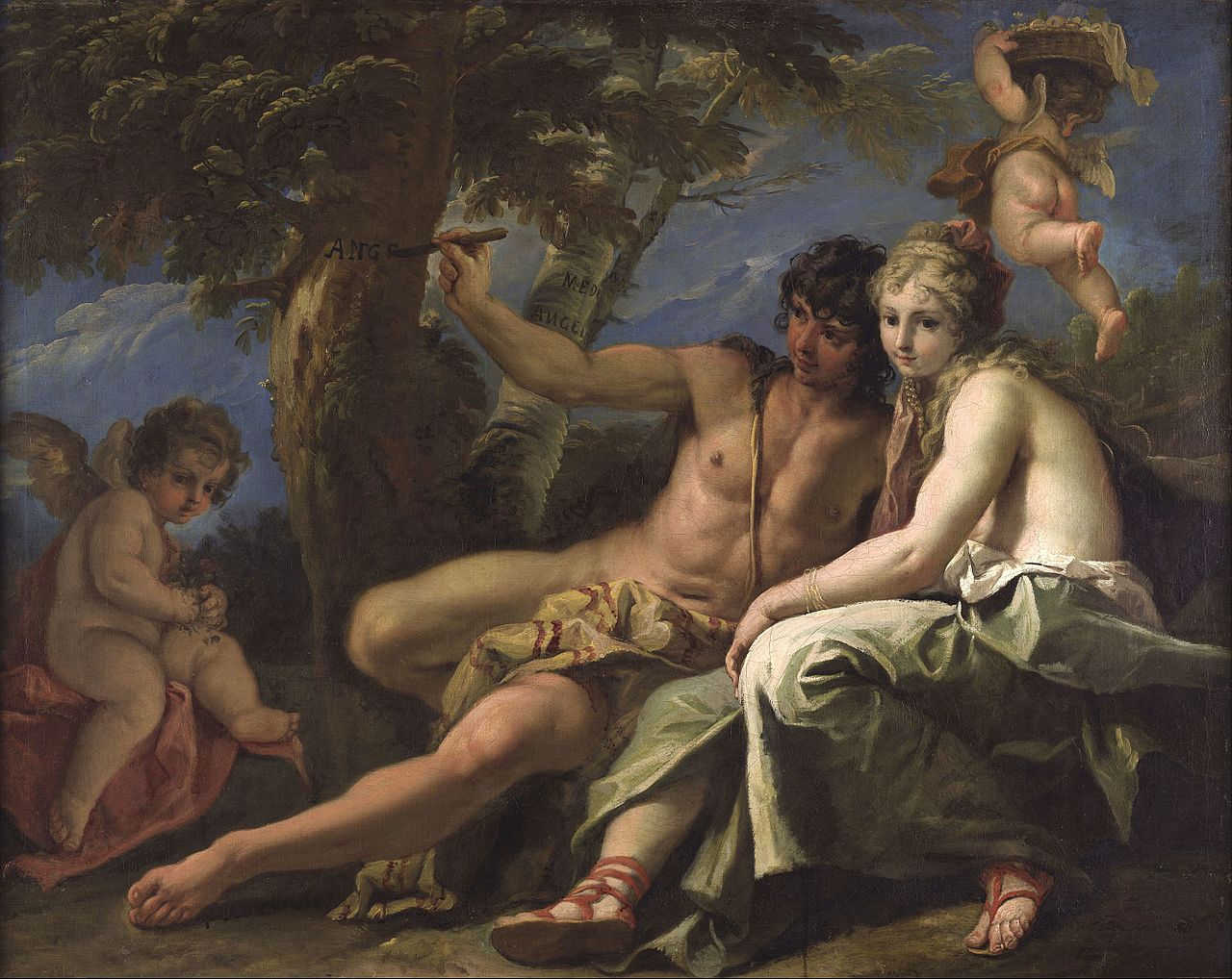 Sebastiano Ricci: Medoro and Angelica